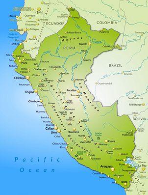 Peru Karte Südamerika.Peru Trekking Land Und Leute